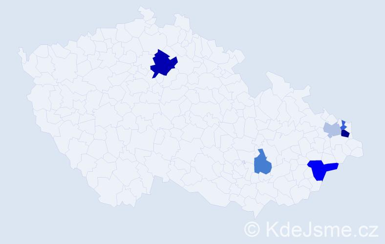 Příjmení: 'Grísová', počet výskytů 11 v celé ČR