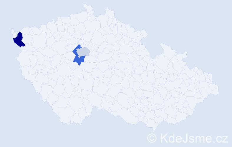 Příjmení: 'Ilina', počet výskytů 3 v celé ČR