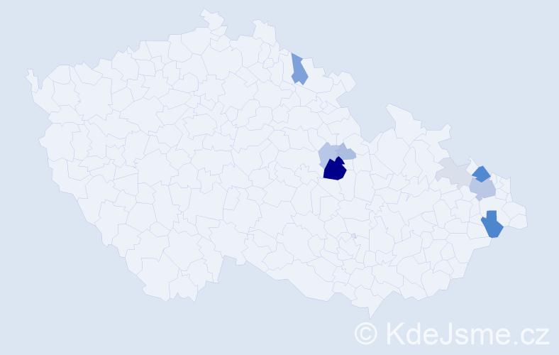 Příjmení: 'Křikala', počet výskytů 26 v celé ČR