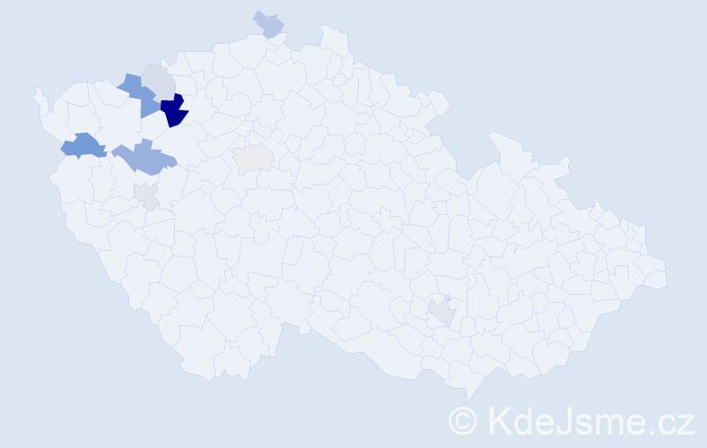 Příjmení: 'Enders', počet výskytů 20 v celé ČR