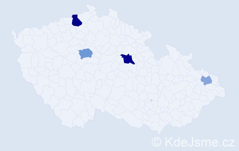 Příjmení: 'Isakov', počet výskytů 10 v celé ČR