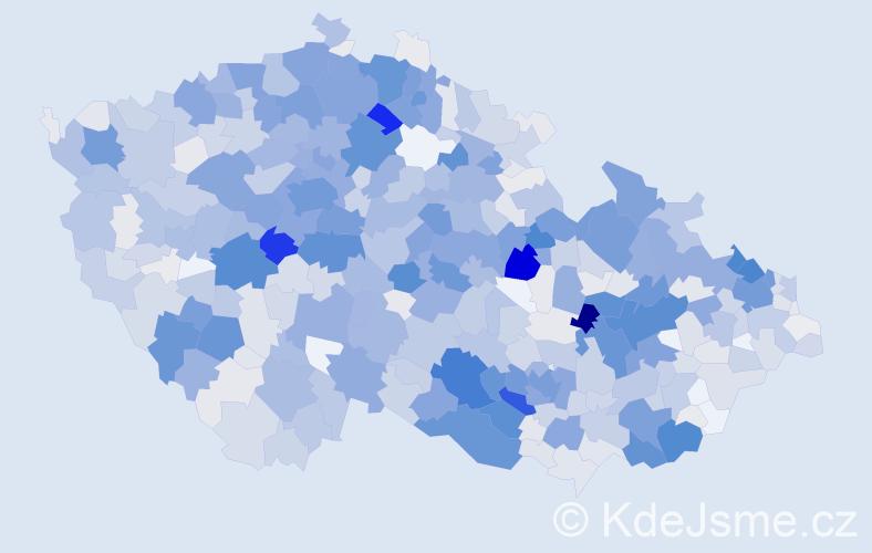 Příjmení: 'Kočí', počet výskytů 4567 v celé ČR