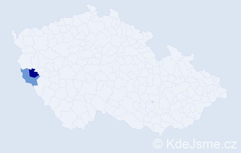 Příjmení: 'Gemeĺová', počet výskytů 2 v celé ČR