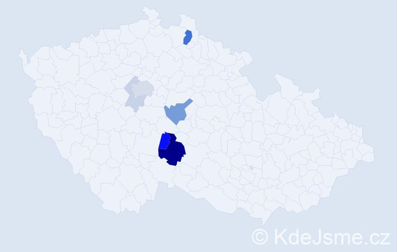 Příjmení: 'Babčický', počet výskytů 19 v celé ČR