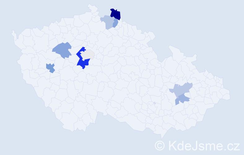 Příjmení: 'Lepišová', počet výskytů 16 v celé ČR