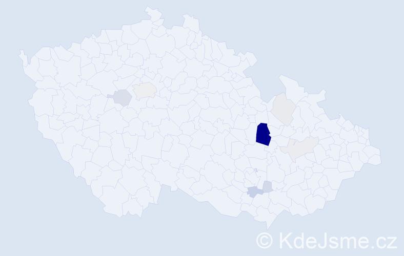 Příjmení: 'Goš', počet výskytů 31 v celé ČR