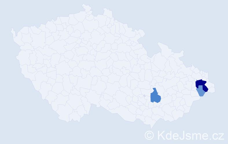 Příjmení: 'Gorgošová', počet výskytů 14 v celé ČR