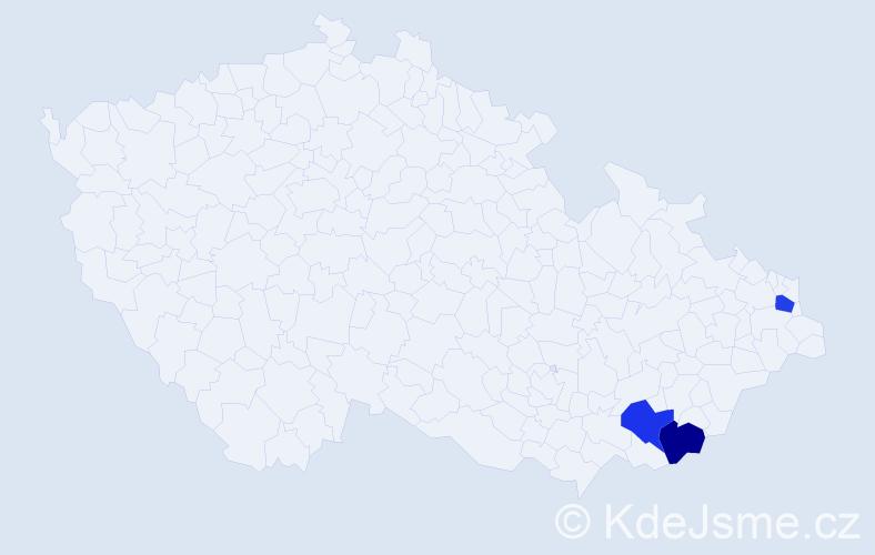 Příjmení: 'Babrnák', počet výskytů 3 v celé ČR
