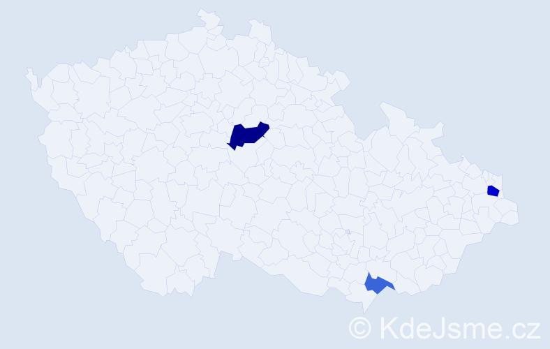 Příjmení: 'Kráľovičová', počet výskytů 5 v celé ČR