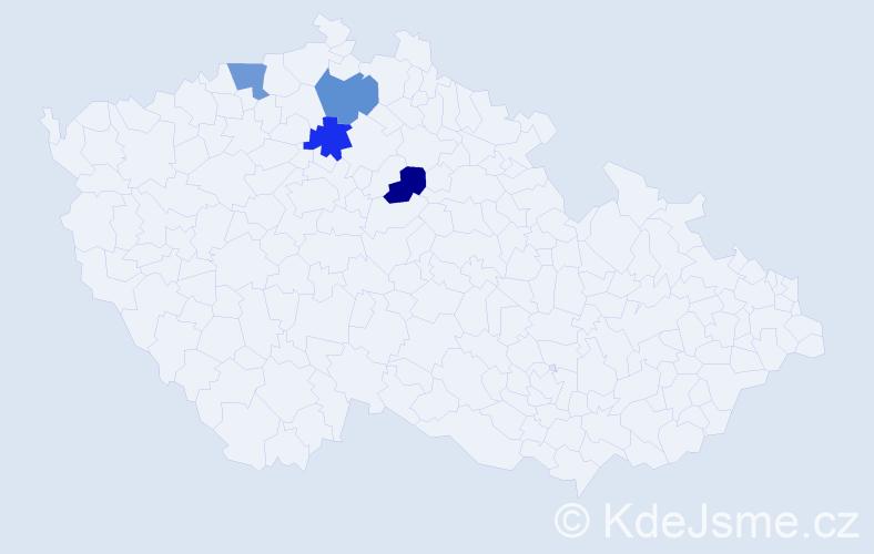 Příjmení: 'Buchleitner', počet výskytů 4 v celé ČR