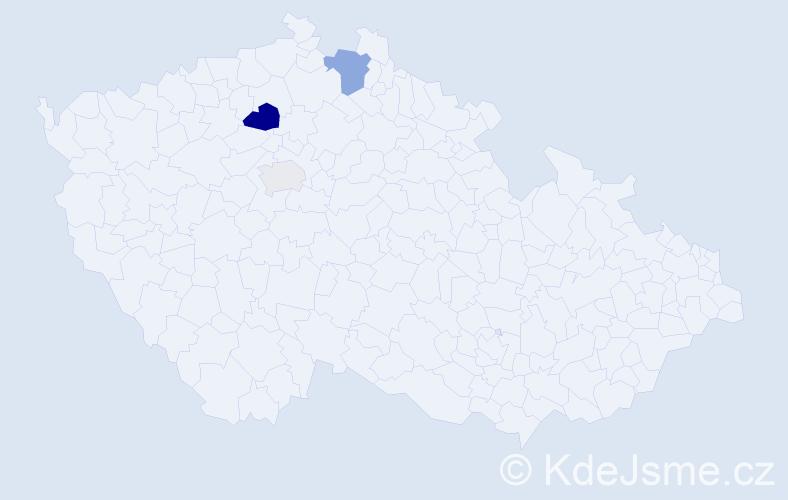 Příjmení: 'Cendra', počet výskytů 6 v celé ČR