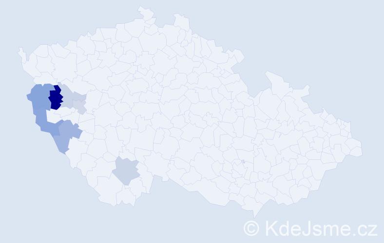 Příjmení: 'Čepičanová', počet výskytů 15 v celé ČR