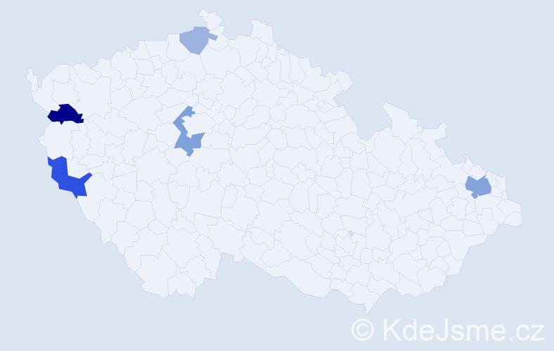 Příjmení: 'Gáboríková', počet výskytů 11 v celé ČR