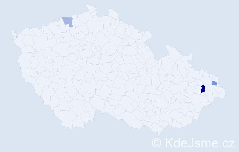 Příjmení: 'Caruk', počet výskytů 6 v celé ČR