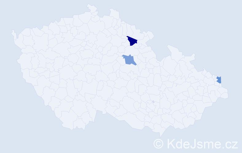 Příjmení: 'Babčanik', počet výskytů 3 v celé ČR