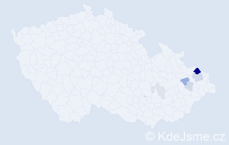 Příjmení: 'Barabasch', počet výskytů 20 v celé ČR