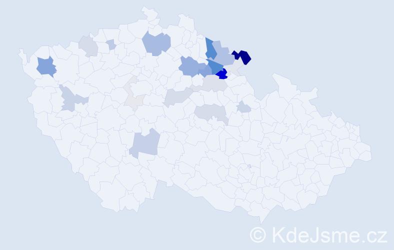 Příjmení: 'Hetfleiš', počet výskytů 68 v celé ČR
