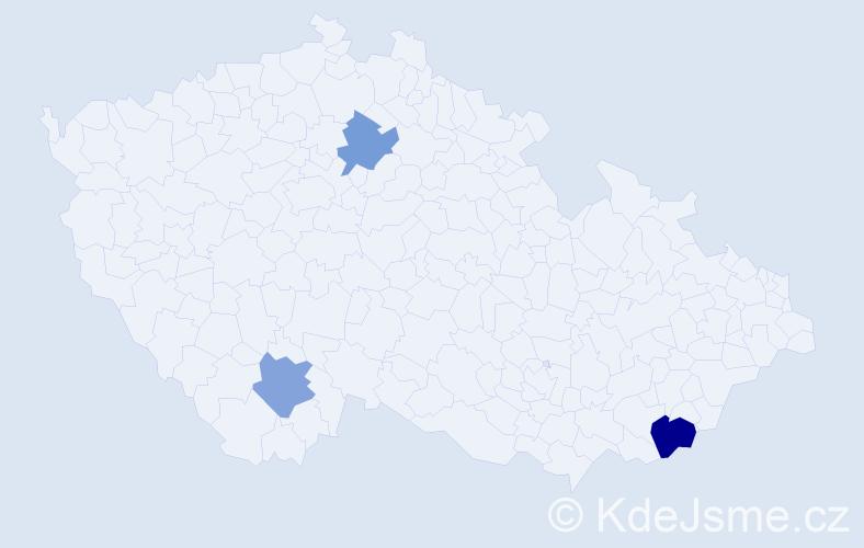 Příjmení: 'Flynnová', počet výskytů 4 v celé ČR