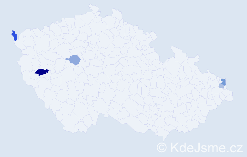 Příjmení: 'Bobula', počet výskytů 7 v celé ČR