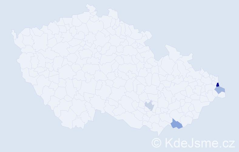 Příjmení: 'Lempart', počet výskytů 7 v celé ČR