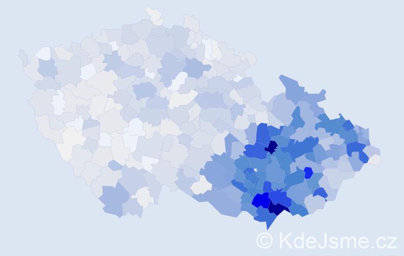 Příjmení: 'Konečný', počet výskytů 6668 v celé ČR