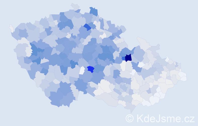 Příjmení: 'Beran', počet výskytů 4800 v celé ČR