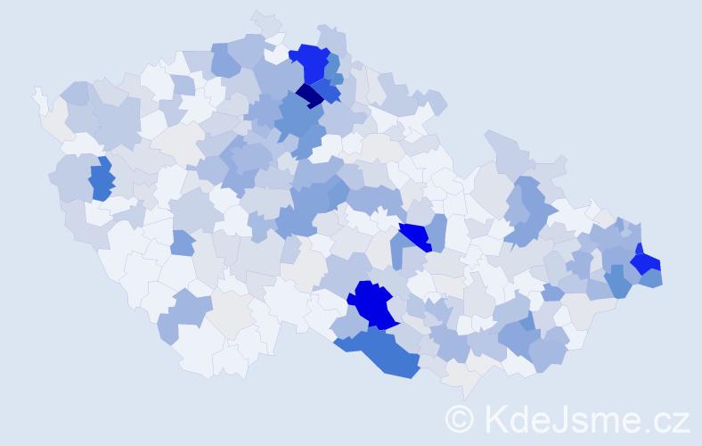 Příjmení: 'Bobková', počet výskytů 1205 v celé ČR