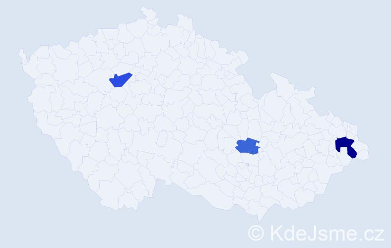 Příjmení: 'Jendřejas', počet výskytů 6 v celé ČR