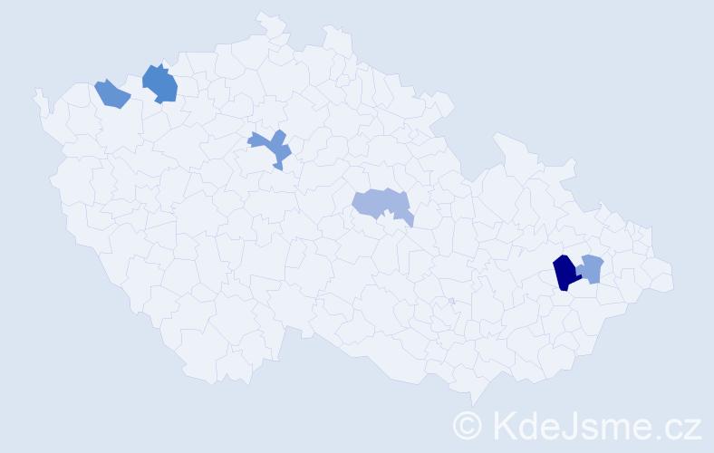 Příjmení: 'Babinčák', počet výskytů 11 v celé ČR
