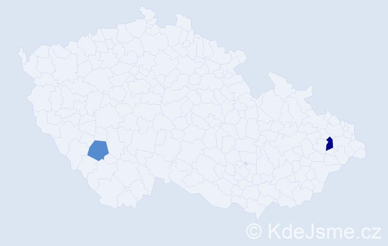 Příjmení: 'Babbitt', počet výskytů 3 v celé ČR