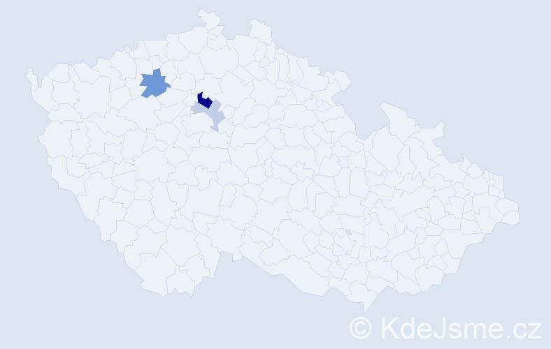 Příjmení: 'Čemer', počet výskytů 7 v celé ČR
