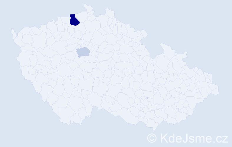 Příjmení: 'Garibjan', počet výskytů 5 v celé ČR
