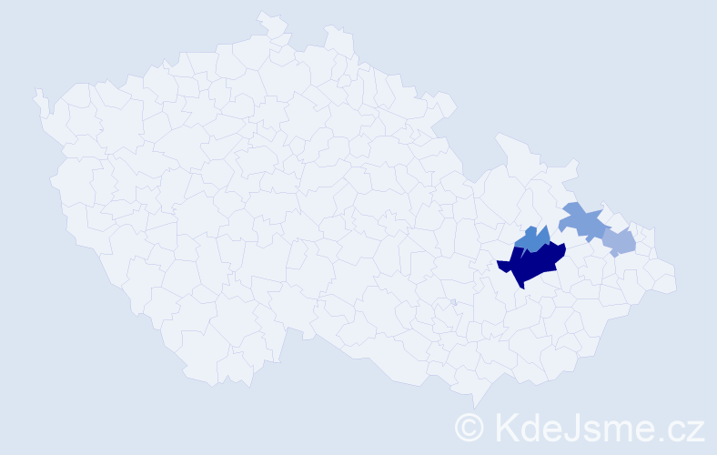 Příjmení: 'Drešl', počet výskytů 16 v celé ČR