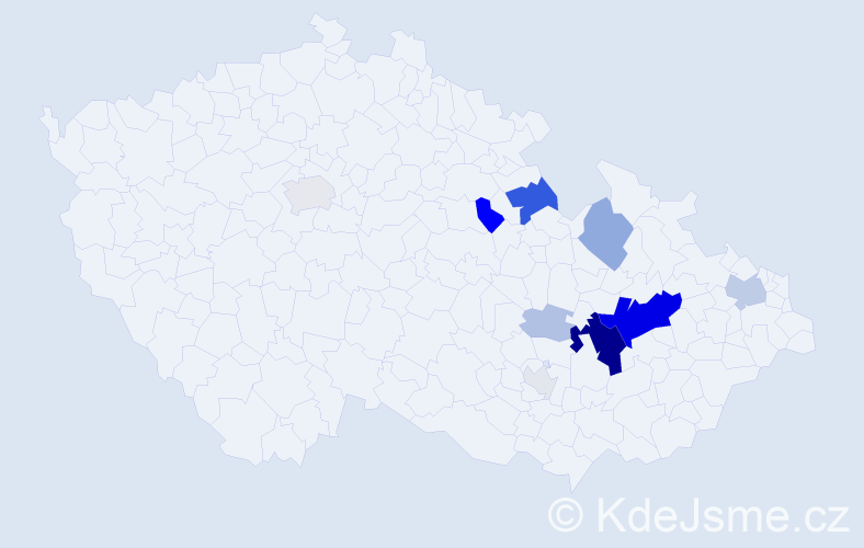 Příjmení: 'Andrésová', počet výskytů 40 v celé ČR
