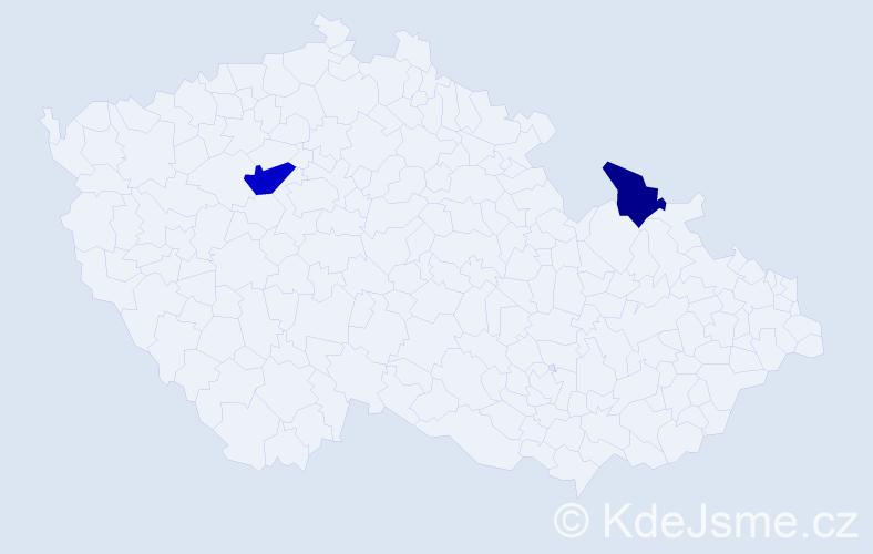 Příjmení: 'Illiašová', počet výskytů 3 v celé ČR