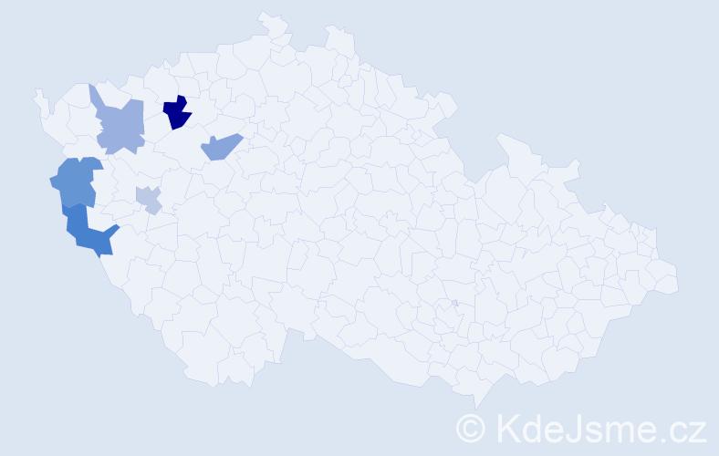 Příjmení: 'Leity', počet výskytů 16 v celé ČR