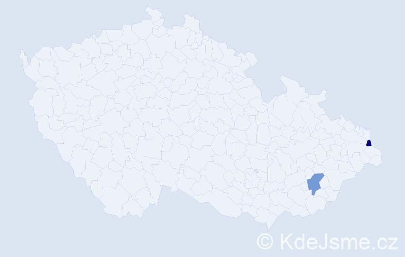 Příjmení: 'Chripková', počet výskytů 4 v celé ČR