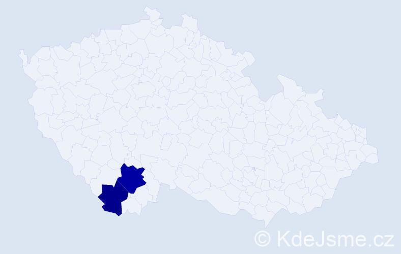 Příjmení: 'Habdák', počet výskytů 7 v celé ČR