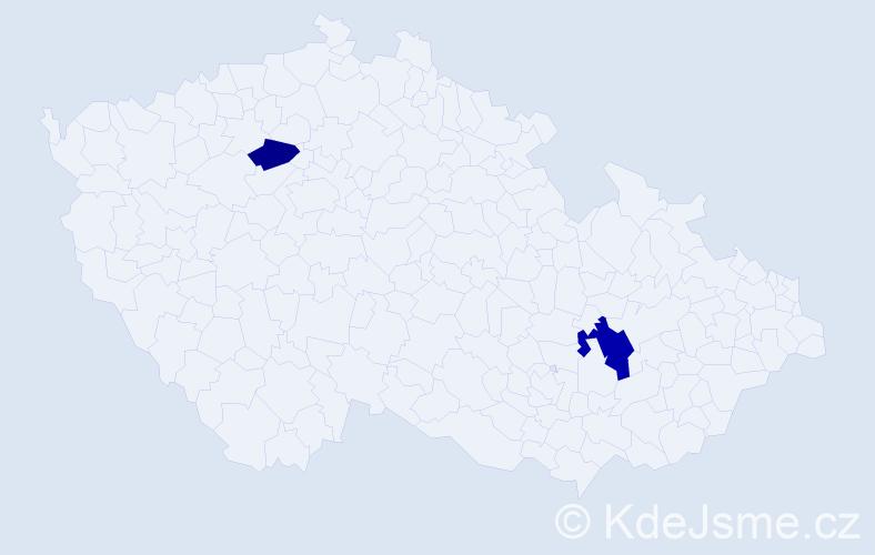 Příjmení: 'Ferjanc', počet výskytů 9 v celé ČR