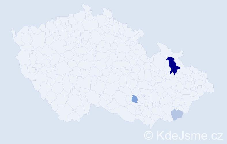 Příjmení: 'Jurovicová', počet výskytů 8 v celé ČR