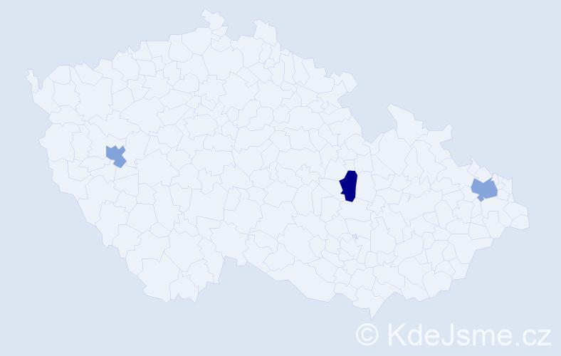 Příjmení: 'Butkovský', počet výskytů 7 v celé ČR