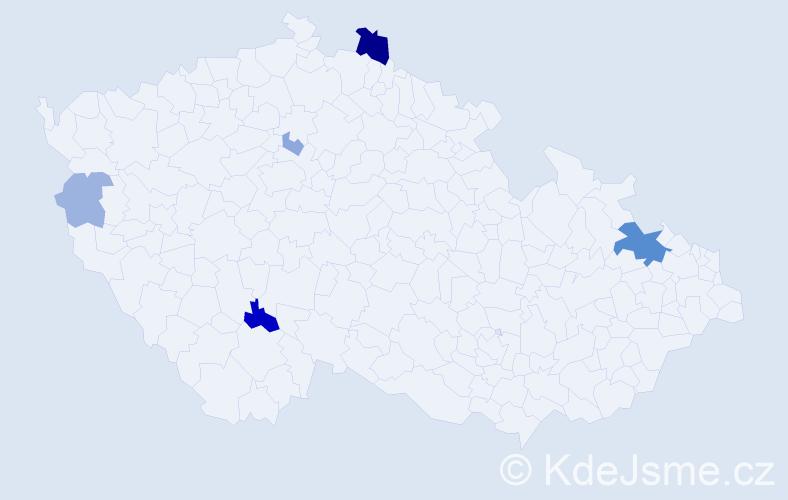 Příjmení: 'Gašpierik', počet výskytů 14 v celé ČR