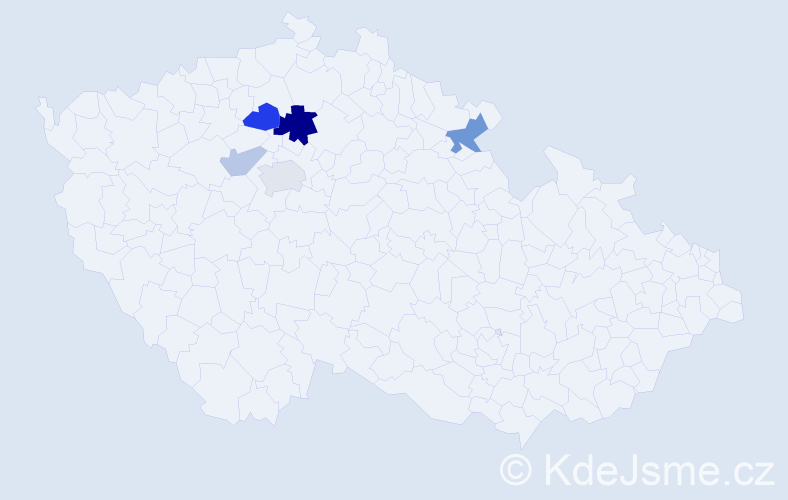Příjmení: 'Lajn', počet výskytů 11 v celé ČR