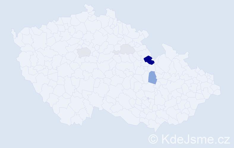 Příjmení: 'Charfreitagová', počet výskytů 19 v celé ČR