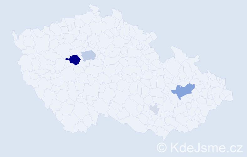 Příjmení: 'Lefebvre', počet výskytů 12 v celé ČR