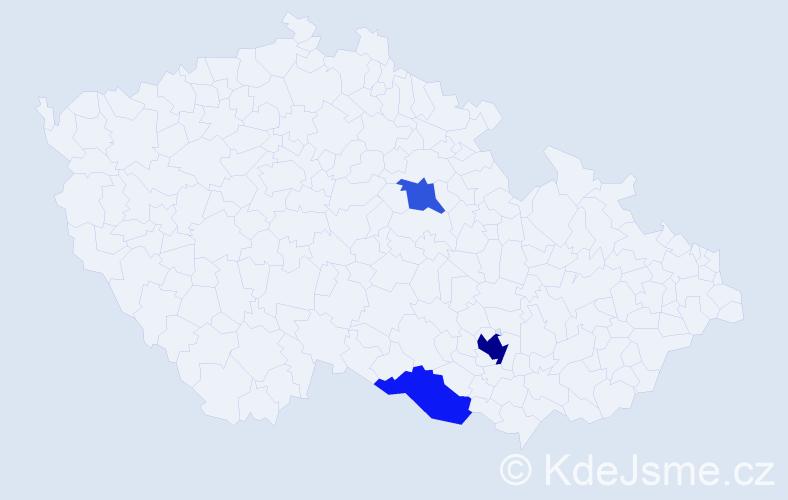 Příjmení: 'Kerbler', počet výskytů 6 v celé ČR