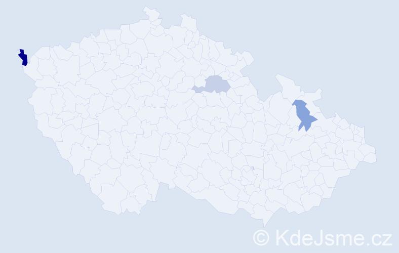 Příjmení: 'Žúrková', počet výskytů 4 v celé ČR