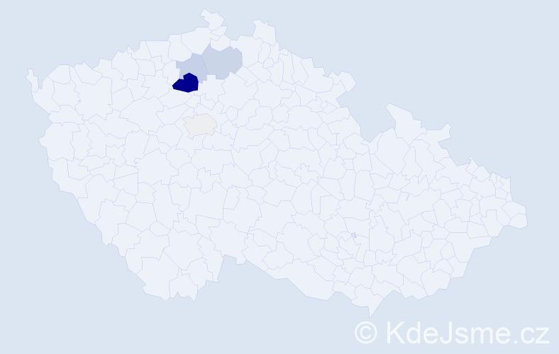 Příjmení: 'Erich', počet výskytů 9 v celé ČR