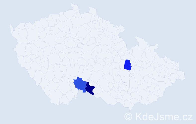 Příjmení: 'Ďurináková', počet výskytů 7 v celé ČR