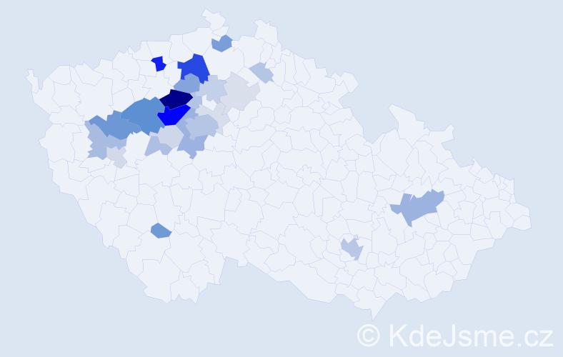 Příjmení: 'Brejník', počet výskytů 104 v celé ČR